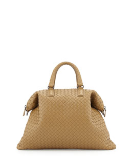 Bottega Veneta Convertible Woven Tote Bag, Sand
