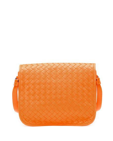 Bottega Veneta Small Woven Flap Crossbody Bag 55cd9cc638531