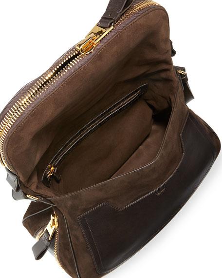 Jennifer Suede Shoulder Bag, Brown