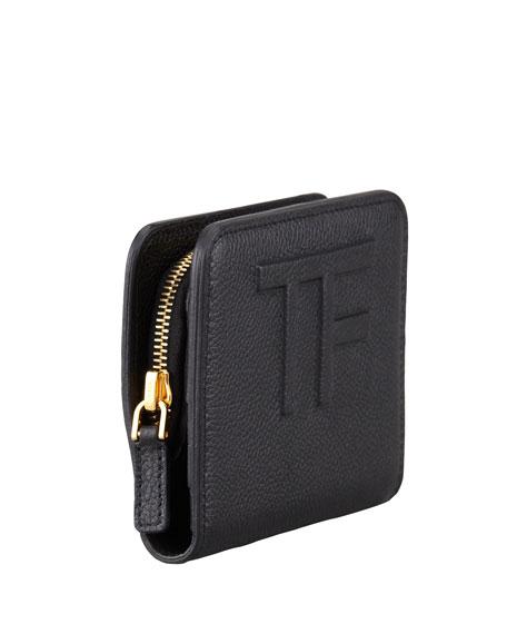 Small Logo Continental Wallet, Black