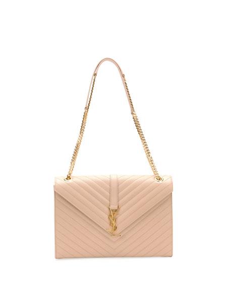 saint laurent bags price - Saint Laurent Monogram Matelasse Shoulder Bag, Dark Beige