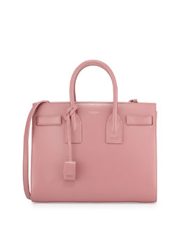 Saint Laurent Sac de Jour Small Carryall Bag, Pink