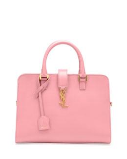 Saint Laurent Monogramme Small Zip-Around Satchel Bag, Pink