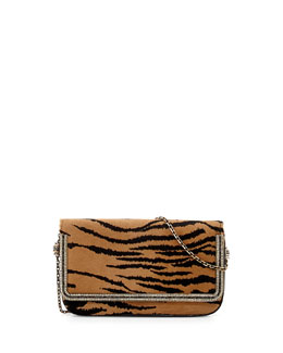 Judith Leiber Couture Carmichael Calf Hair Clutch Bag, Tan/Black