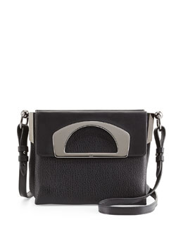 Mini Passage Leather Crossbody Bag, Black
