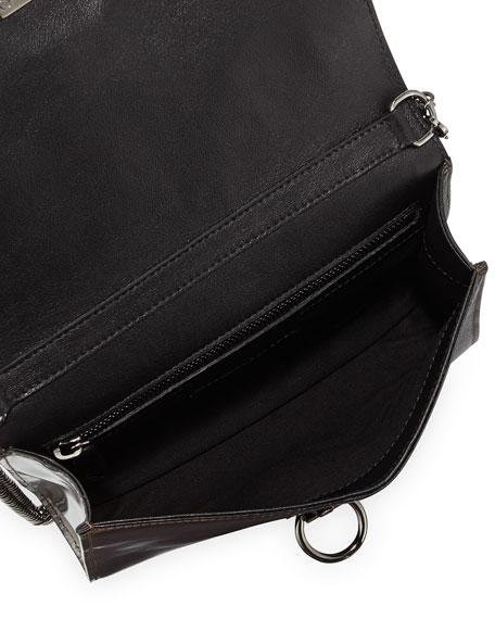 Rider Small Bicolor Bag, Black/Gunmetal