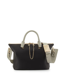 Chloe Baylee Medium Shoulder Bag, Black/Gray