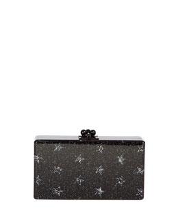 Edie Parker Jean Stars Acrylic Clutch Bag, Black
