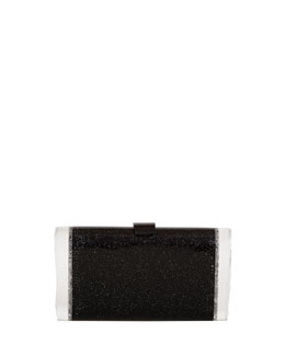 Edie Parker Lara Confetti Clutch Bag, Black