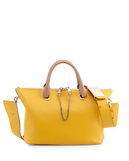 Chloe Baylee Medium Shoulder Bag, Beige/Yellow