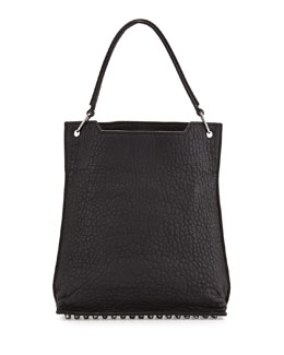 Alexander Wang Darcy Inside Out Rubberized Shoulder Bag, Black