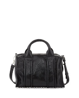 Alexander Wang Inside-Out Rocco Pebbled Leather Satchel Bag, Black