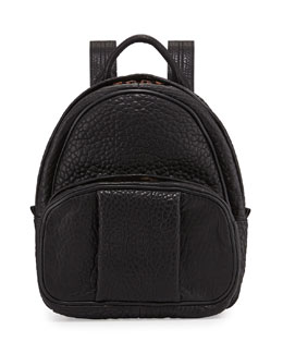 Alexander Wang Dumbo Leather Backpack, Black/Rose