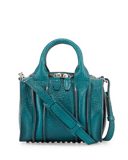 Alexander Wang Rockie Inside-Out Small Crossbody Satchel Bag, Dark Mosaic