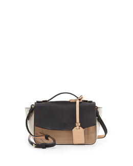 Reed Krakoff Anarchy Micro Colorblock Crossbody Bag, Nude Multi