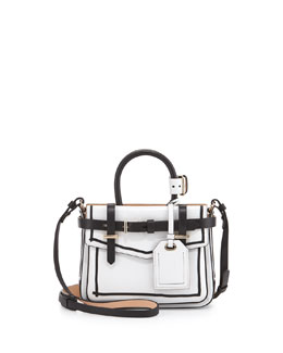 Reed Krakoff Boxer Micro Tote Bag, White/Black