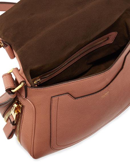 Jennifer Calfskin Crossbody Bag, Rose
