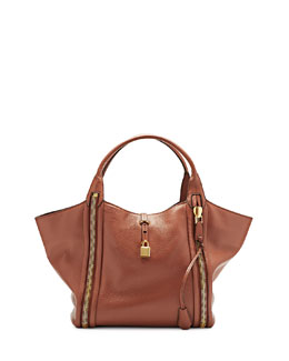 Tom Ford Amber Double-Zip Leather Tote Bag, Rose