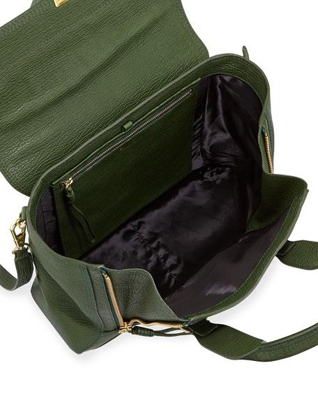Pashli Medium Zip Satchel Bag, Jade