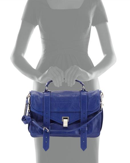 Lambskin Medium Shoulder Bag, Cobalt