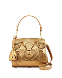 Ralph Lauren Soft Ricky 18 Mini Crossbody Bag, Bronze