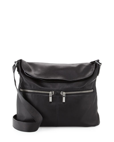 James Lambskin Crossbody Bag, Black