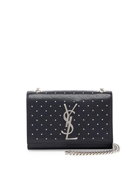Monogram Studded Crossbody Bag, Black