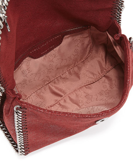 Falabella Mini Flap Shoulder Bag, Bordeaux