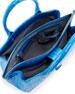 Cristina Medium Crocodile Tote Bag, Blue