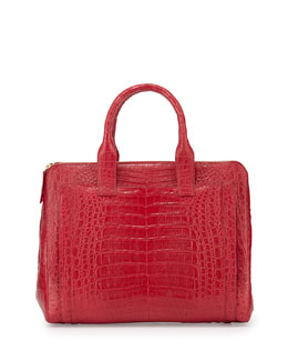 Nancy Gonzalez Crocodile Large Zip Tote Bag, Red