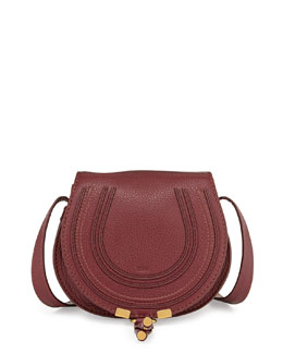Chloe Marcie Small Satchel Bag, Purple