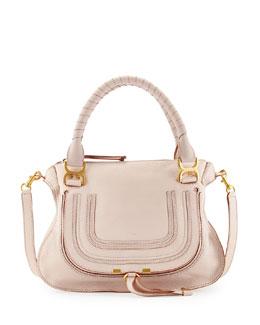 Chloe Marcie Medium Satchel Bag, Nude (Pink)