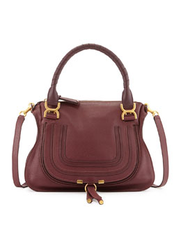 Chloe Marcie Medium Satchel Bag, Purple