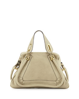 Chloe Paraty Medium Satchel Bag, Light Green