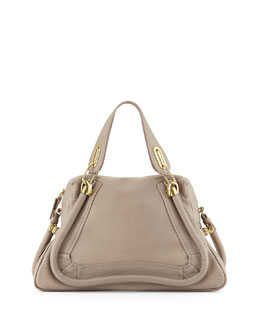 Chloe Paraty Medium Satchel Bag, Gray