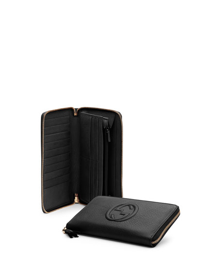f2bd4c31c82 Gucci Soho Leather Travel Zip Around Wallet
