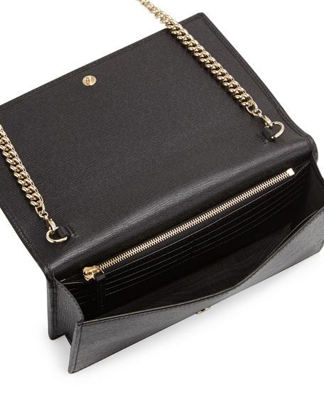 edf83787b1ae Gucci Betty Leather Chain Wallet, Black