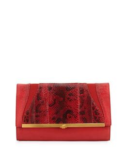 Khirma Eliazov Katerine Combo Clutch Bag, Flame Red