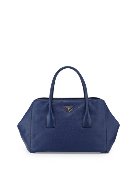 5718afb600b1 ... greece prada vitello daino garden tote bag dark blue inchiostro 8ec34  be47d