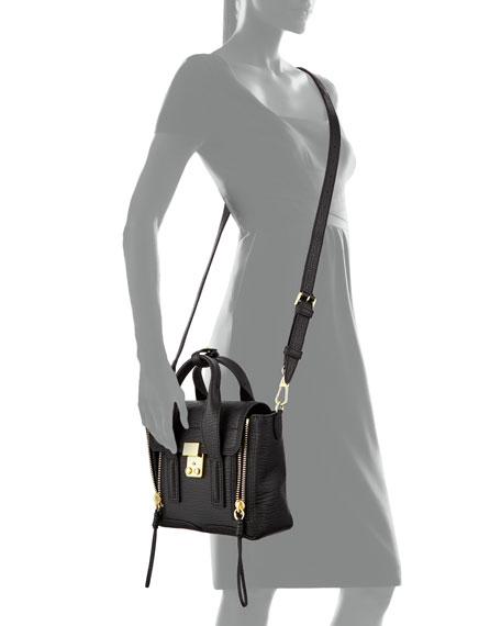 3.1 Phillip Lim Pashli Mini Zip Satchel Bag, Black 6613b704fc