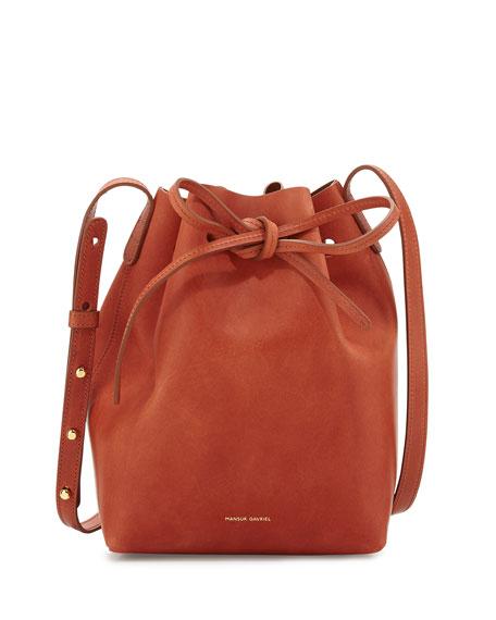 Mansur Gavriel Mini Coated Leather Bucket Bag