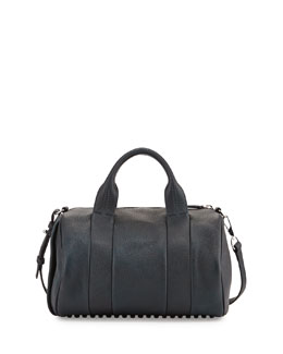 Alexander Wang Rocco Heat-Sensitive Color-Changing Stud-Bottom Satchel Duffel Bag, Poseidon/Galaxy Blue