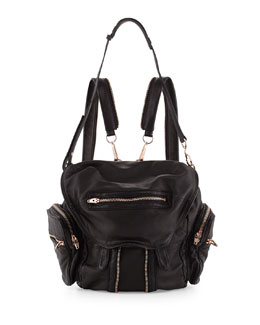 Alexander Wang Marti Mini Leather Backpack, Black