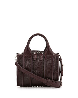 Alexander Wang Inside-Out Rockie Small Crossbody Satchel Bag, Supernova Purple