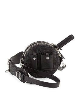 Alexander Wang Runway Canteen Lizard-Embossed Bag with Mirror