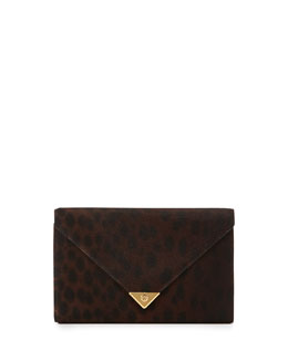 Alexander Wang Prisma Spotted Calf Hair Wallet Clutch, Leopard Haze