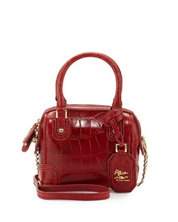 Alice + Olivia Olivia Mini Embossed Crossbody Bag, Cherry