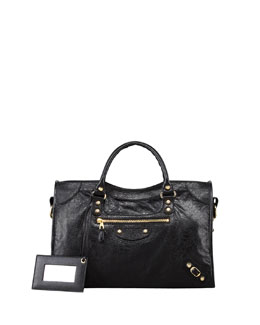 Balenciaga Giant 12 Golden City Bag, Black