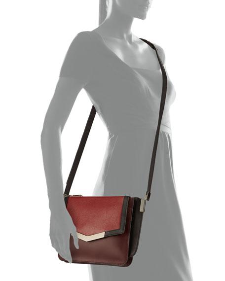 Mini Trilogy Leather Shoulder Bag, Cherry Multi