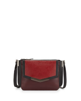 Time's Arrow Affine Small Leather Shoulder Bag, Cherry Multi